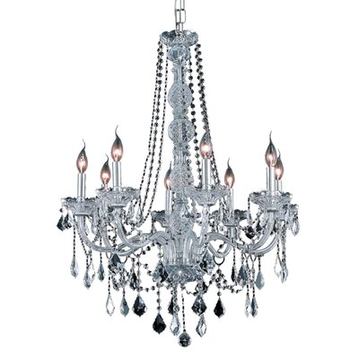 Petties 8-Light Crystal Chandelier Color: Chrome, Crystal Grade: Swarovski Spectra