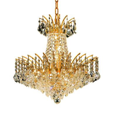 Phyllida 8-Light Empire Chandelier Finish: Gold, Crystal Trim: Elegant Cut