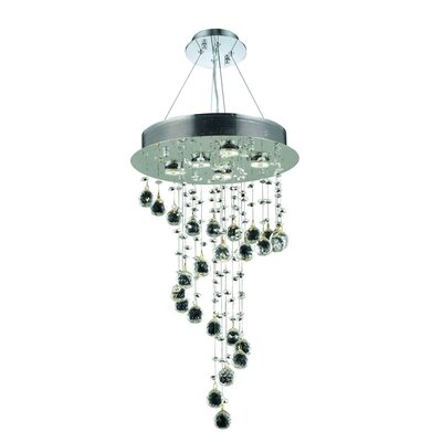Deidamia 5-Light Wire Crystal Chandelier