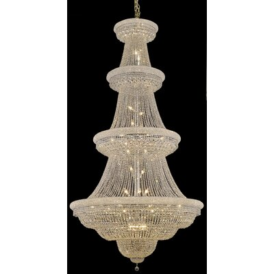 Jessenia 48-Light Crystal Chandelier Finish: Chrome, Crystal Grade: Elegant Cut