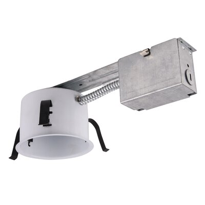Line Voltage Non-IC New Construction Shallow 4 LED Recessed Housing