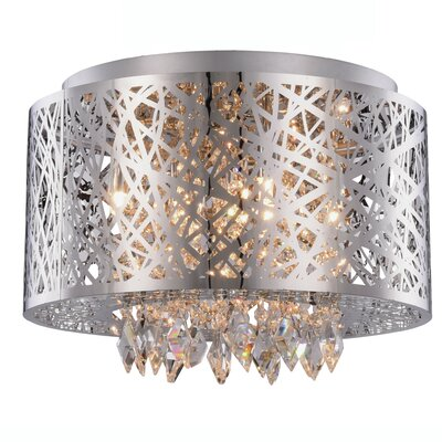 Lucretia 7-Light Flush Mount Finish: Chrome