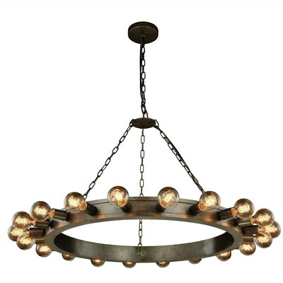 Fanetta 20-Light Sputnik Chandelier Finish: Aged Iron