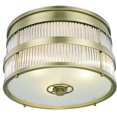 Anjelica 3-Light Flush Mount Finish: Polished Nickel