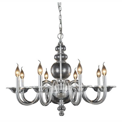 Elissa 8-Light Candle-Style Chandelier Finish: Silver