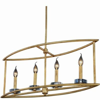 Simental 4-Light Kitchen Island Pendant Finish: Polished Nickel