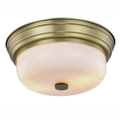 Brys Transitional 2-Light Flush Mount Finish: Burnished Brass