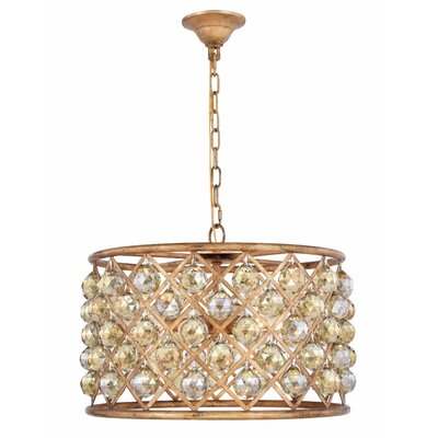Morion 6-Light Drum Pendant Crystal Color: Smoky