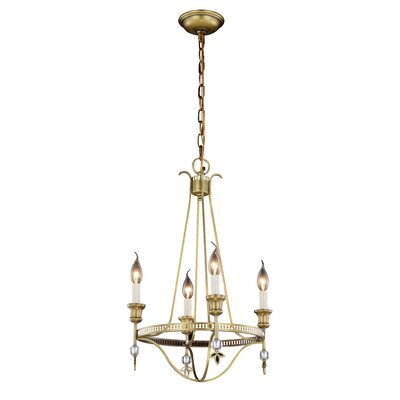 Trevorton 4-Light Candle-Style Chandelier Finish: Burnished Brass