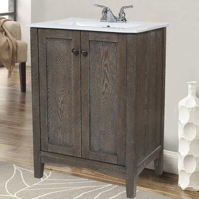 Danville 24 Single Bathroom Vanity Set Base Finish: Weathered Oak