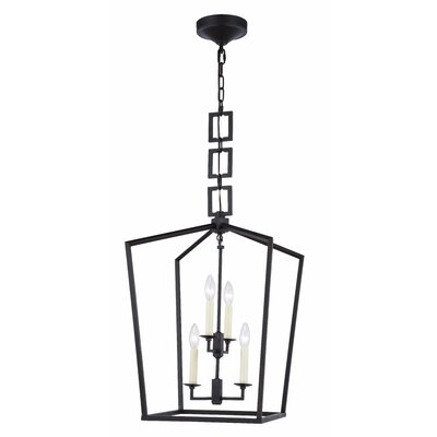 Isoline 4-Light Foyer Pendant Finish: Vintage Bronze, Size: 19.5 H x 12 W x 12 D