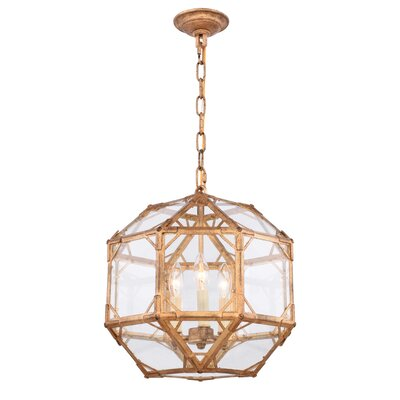 Lettie 3-Light Foyer Pendant Finish: Golden Iron