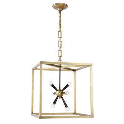 Rafaela 6-Light Foyer Pendant Finish: Burnished Brass