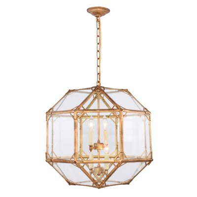 Puccio 4-Light Foyer Pendant Finish: Golden Iron