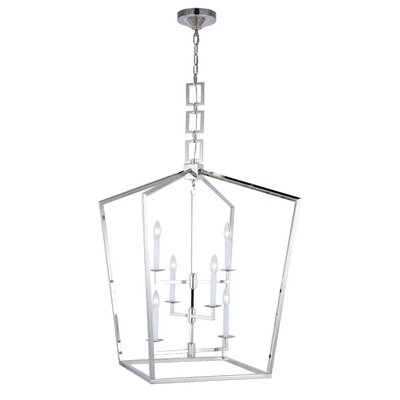 Isoline 6-Light Foyer Pendant Finish: Polished Nickel, Size: 34.5 H x 24 W x 24 D