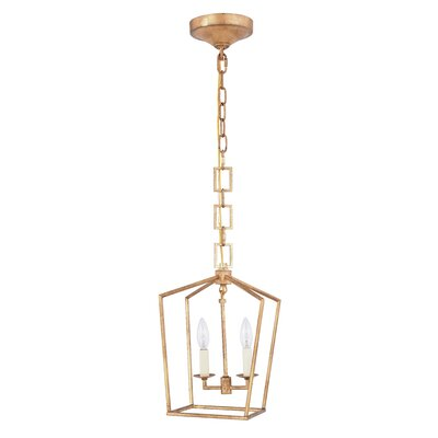 Isoline 2-Light Foyer Pendant Finish: Golden Iron