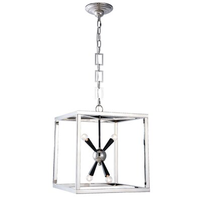Rafaela 4-Light Foyer Pendant Finish: Burnished Brass