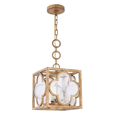 Angelo 4-Light Foyer Pendant Finish: Golden Iron, Size: 24.5 H x 22 W x 22 D