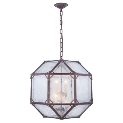 Lettie 4-Light Foyer Pendant Finish: Saddle Rust