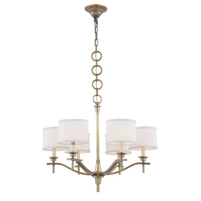 Gwendolen 6-Light Drum Chandelier Finish: Bronze