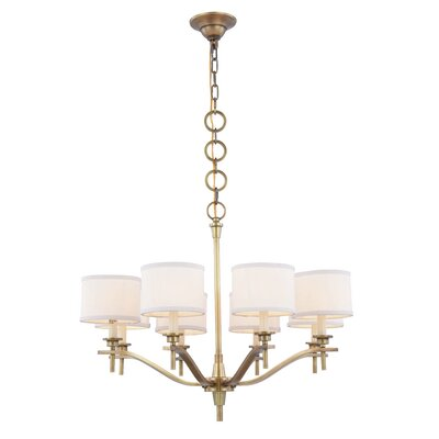 Gwendolen 8-Light Drum Chandelier Finish: Polished Nickel