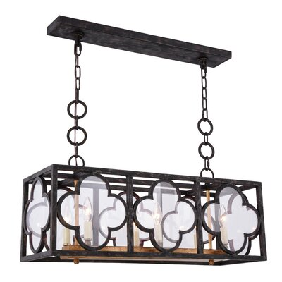 Angelo 6-Light Kitchen Island Pendant Finish: Aged Copper