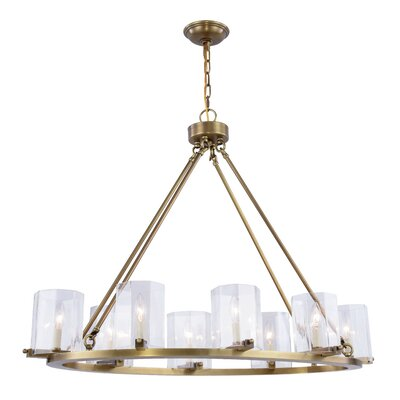 Monterey 8-Light Candle-Style Chandelier Finish: Bronze