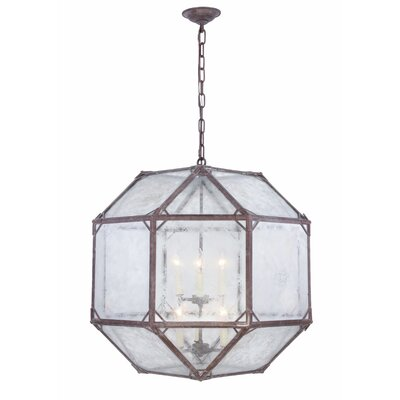 Lettie 6-Light Foyer Pendant Finish: Saddle Rust
