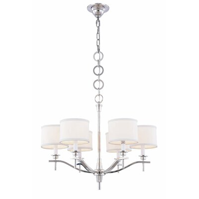 Gwendolen 6-Light Drum Chandelier Finish: Polished Nickel