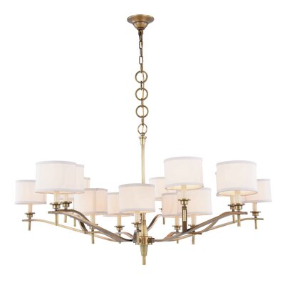 Gwendolen 15-Light Drum Chandelier Finish: Bronze