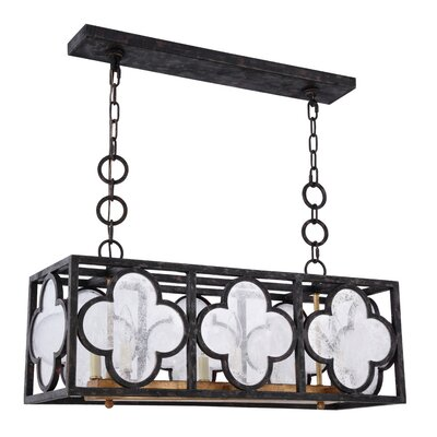 Angelo Transitional 6-Light Kitchen Island Pendant Finish: Golden Iron