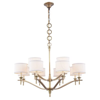 Gwendolen 12-Light Drum Chandelier Finish: Burnished Brass