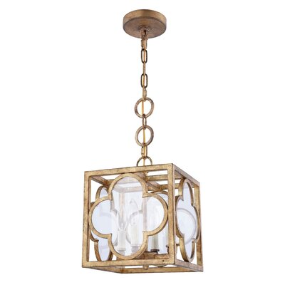 Angelo Transitional 4-Light Foyer Pendant Finish: Golden Iron, Size: 12.5 H x 10 W x 10 D