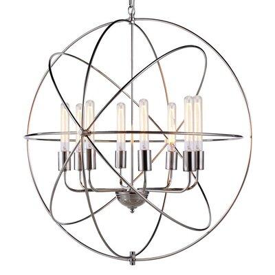 Hamby 8-Light Globe Pendant Finish: Polished Nickel