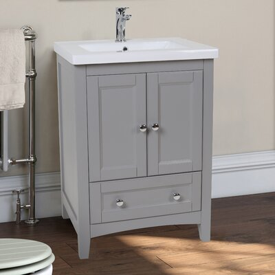 Modena 24 Single Bathroom Vanity Set Base Finish: Medium Gray