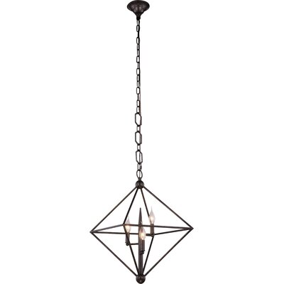 Deanda 3-Light Pendant Finish: Vintage Silver Leaf
