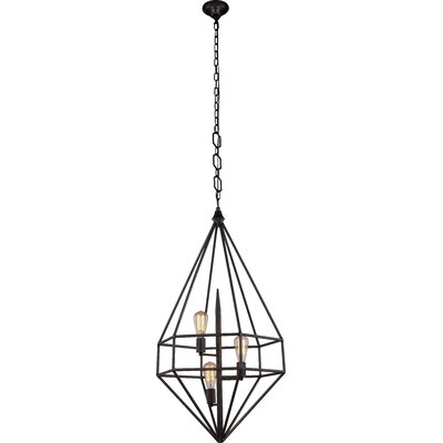 Jayme 3-Light Foyer Pendant Finish: Golden Iron