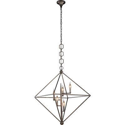 Deanda 5-Light Pendant Finish: Vintage Silver Leaf