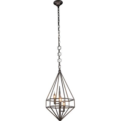 Jayme Transitional 3-Light Foyer Pendant Finish: Aged Iron