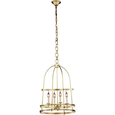Vinita 4-Light Pendant Finish: Burnished Brass
