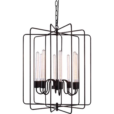 Starks 8-Light Foyer Pendant Finish: Dark Bronze