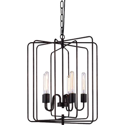 Starks 5-Light Foyer Pendant Finish: Dark Bronze