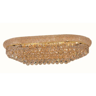 Jessenia 18-Light Flush Mount Finish: Gold, Crystal Grade: Elegant Cut
