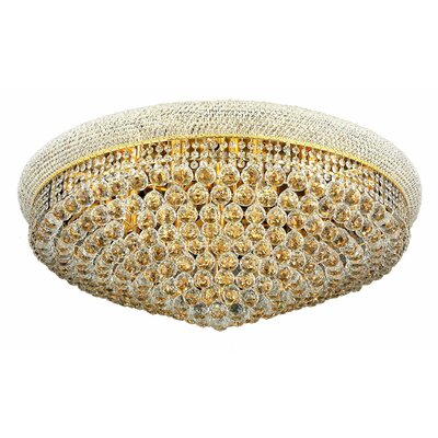 Primo 20-Light Flush Mount Finish: Gold, Crystal Grade: Elegant Cut