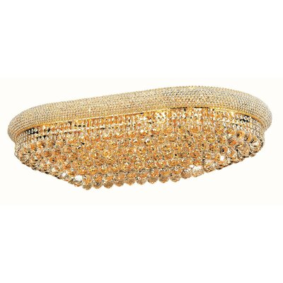Jessenia 24-Light Flush Mount Finish: Gold, Crystal Grade: Strass Swarovski