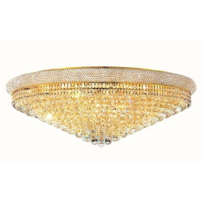 Primo 30-Light Flush Mount Finish: Gold, Crystal Grade: Spectra Swarovski