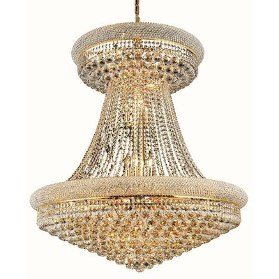 Jessenia Glam 28-Light Empire Chandelier Finish: Gold, Crystal Trim: Spectra Swarovski