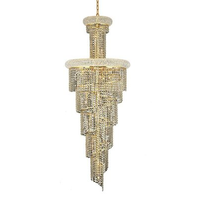 Mathilde 22-Light Cascade Pendant Finish: Chrome, Crystal Trim: Spectra Swarovski