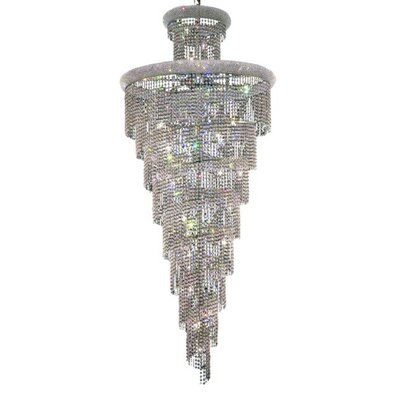 Mathilde 32-Light Crystal Pendant Finish: Chrome, Crystal Trim: Strass Swarovski