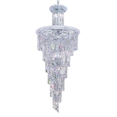 Mathilde 28-Light Crystal Pendant Finish: Gold, Crystal Trim: Strass Swarovski